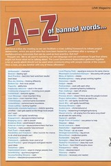 a-z of banned words