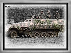 WW II German halftrack (Sd.Kfz251) at Reenactment