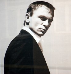 Daniel Craig's looking at me, and I don't thin...