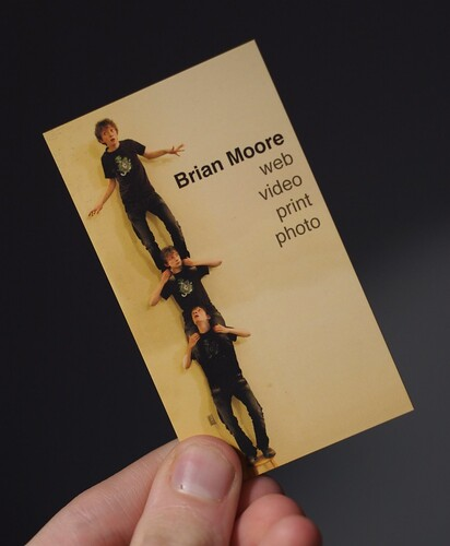 Front of New Business Card by Brian