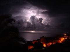 Thunder above Madeira waters