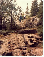 Karen Miller and Scott Alan Miller Mountain Climbing in Acadia National Park