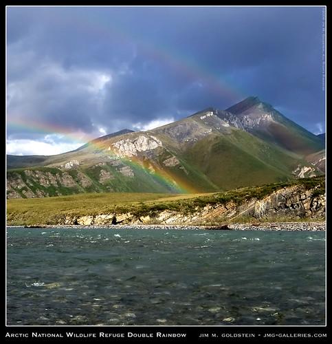 Arctic National Wildlife Refuge Double Rainbow