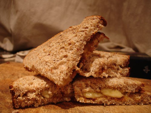 I am craving .....Banana and Marmite Sandwiches