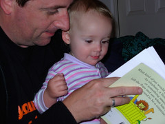 Reading Dear Zoo with Daddy