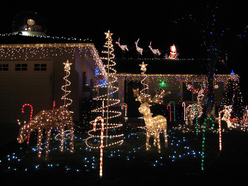 Our Christmas light display