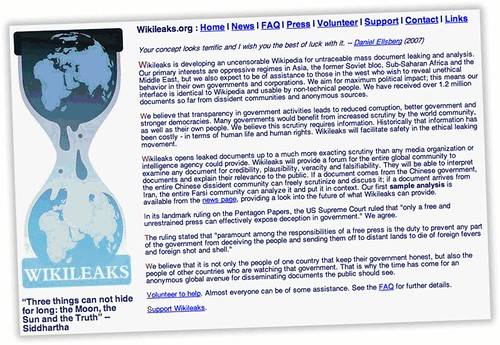 WikiLeaks: anonymous whistle-blowing