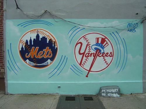 Mets and Yankees Mural by yehwan.