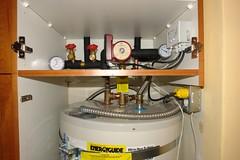 Solar water heater plumbing overview