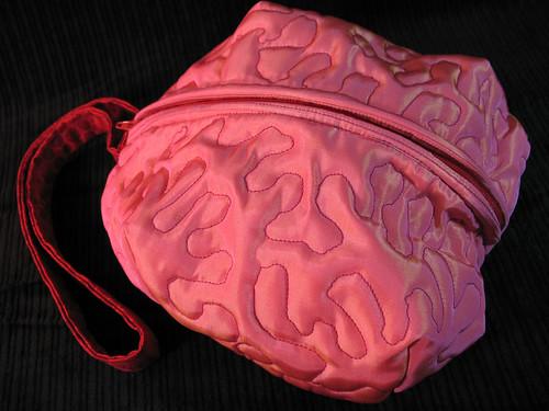 pink brain bag