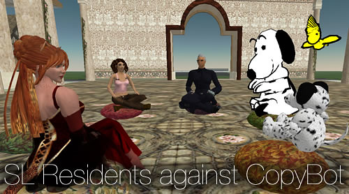The CopyBot Protest in Second Life