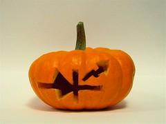 Carved mini-pumpkin