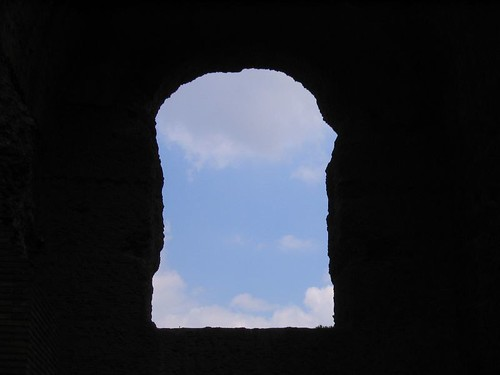 A window at the Baths of Caracalla