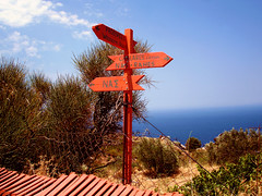Ikaria 325 (isl_gr (away on an odyssey)) Tags: hiking ikaria icaria  aegean trails signage trailmarker ege  chalares proespera   top20vivid