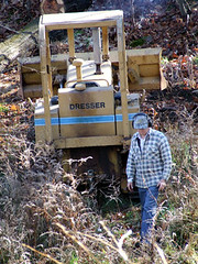 Bruce with his bulldozer