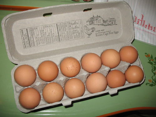 A Dozen Cage Free Brown Eggs