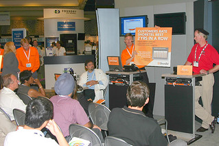 The ShoreTel booth at VoiceCon Fall 2005.