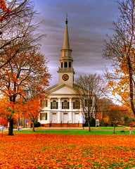 Church on a New England Green