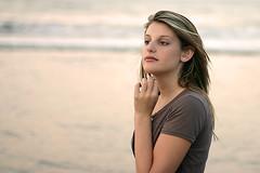 Kayla on the beach