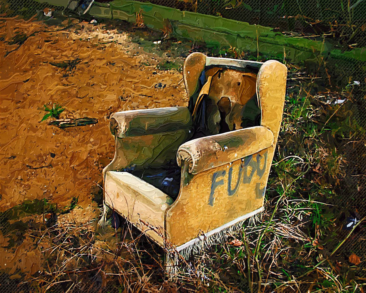 An artist's impression of my dads favourite chair