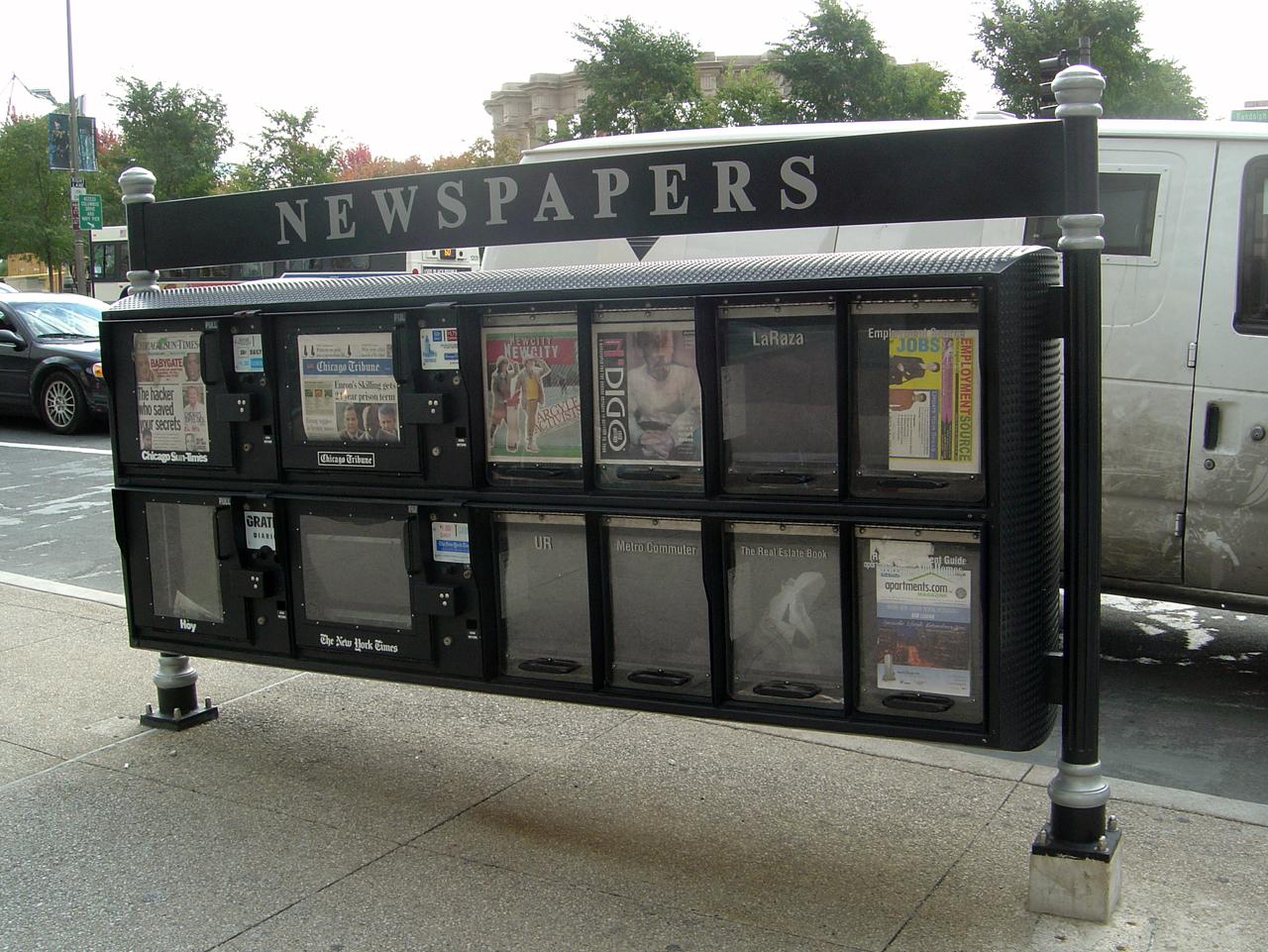 Image of a newspaper vending machine