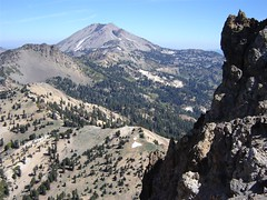 Lassen Peak seen from Brokeoff Mountain