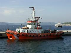 Turkey: Çannakkale Harbor, ferry and Dardanell...