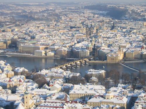 Vista aérea de la Ciudad de Praga