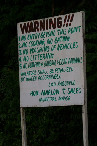 No Washing of Vehicles