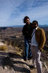 Kavan and Cesar on their way to visit Zurek to discuss Quantum Discord