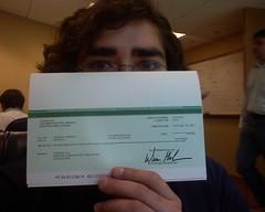 Mi primer cheque de Adsense