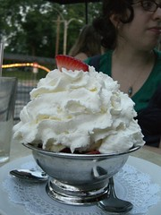 An ice cream sundae from cicero's in webster groves, missouri