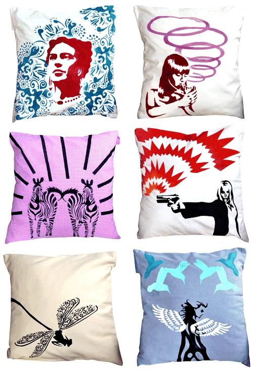Nina Valkhoff Pillows via The Style Files