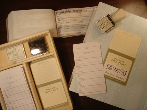 friendship receipts and library organizer