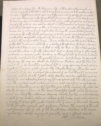 Margaret Fountain letter, Norwich Castle Museum