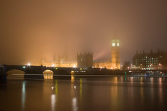Westminster in fog
