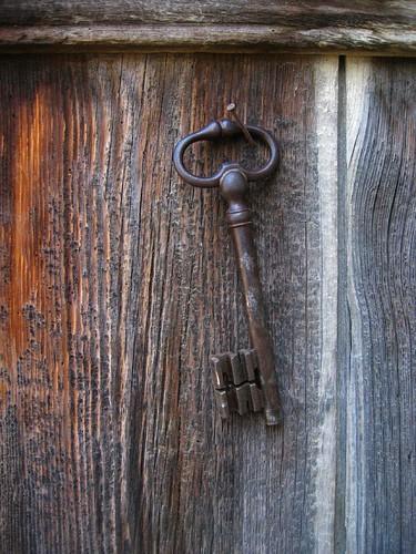 Key on door