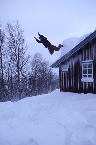 Jumping of the roof