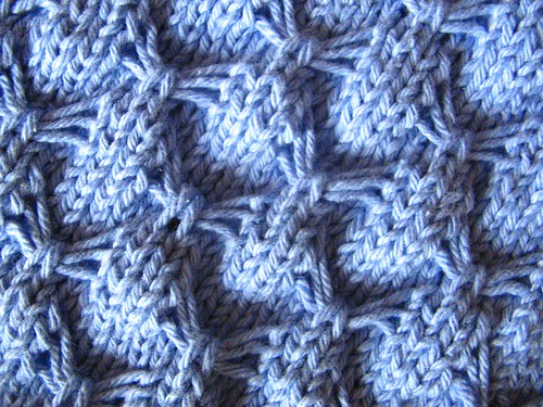 Smocked dishcloth close-up
