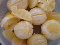 lemons peeled