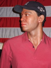 Golfer Tiger Woods at the Wax Museum at Fisher...