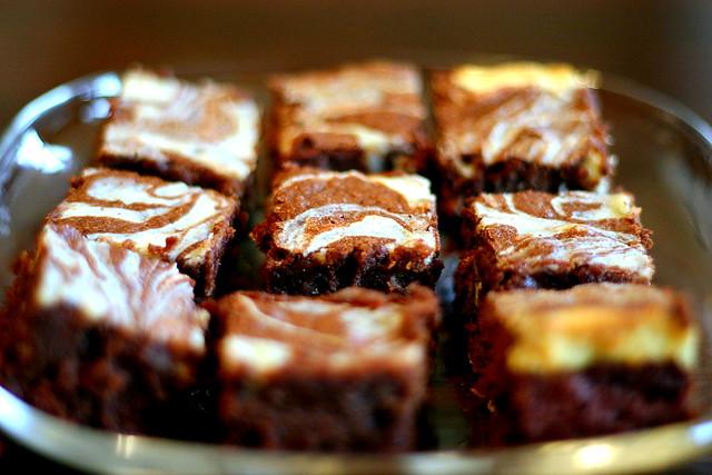 cream cheese marbled brownies