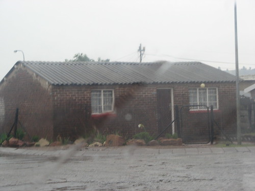 Typical Sowetan house in the rain