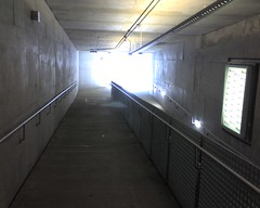 Outside entrance to underground Skinker Metrolink station