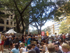 Punters at the St Jerome's Laneway Festival