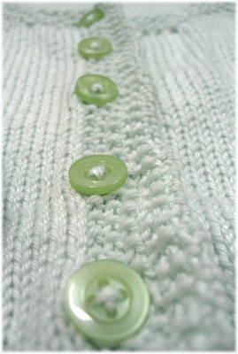 Green buttons surrounded by edging...