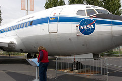 """IMG_5709: Donna Read About the NASA 737 • <a style=""""font-size:0.8em;"""" href=""""http://www.flickr.com/photos/54494252@N00/19225255/"""" target=""""_blank"""">View on Flickr</a>"""
