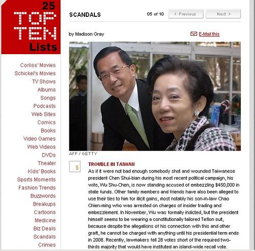 Time雜誌全球十大醜聞