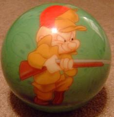 My elmer fudd bowling ball