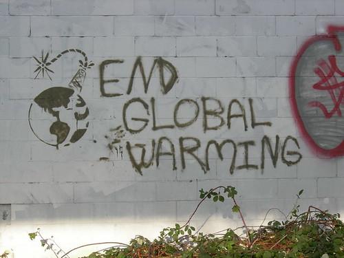 global warming graffiti